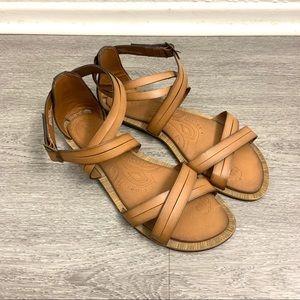 Clarks Billie Jazz Honey Brown Gladiator Sandals 9